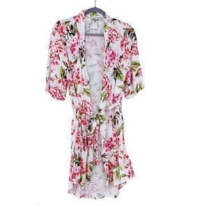 Show Me Your Mumu Pink & White Floral Robe